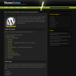 How To Create WordPress Themes From Scratch Part 1 » Themetation