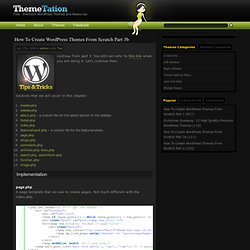 How To Create WordPress Themes From Scratch part 3b » Themetation