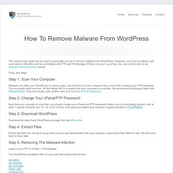 How To Remove Malware From WordPress - WordPress Tutorials - SecurePress