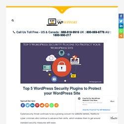 Top 5 WordPress Security Plugins to Protect your WordPress Site
