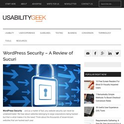 WordPress Security - A Review of Sucuri