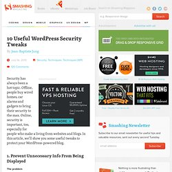 10 Useful WordPress Security Tweaks - Smashing WordPress