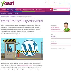WordPress security and Sucuri