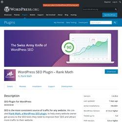 SEO Plugin – Rank Math – WordPress plugin