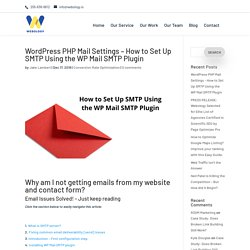 WordPress PHP Mail Settings - How to Set Up SMTP Using the WP Mail SMTP Plugin