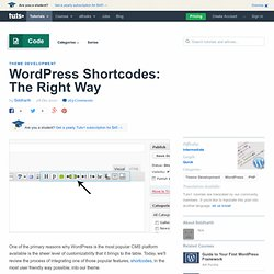 How to Create WordPress Shortcodes | Nettuts+