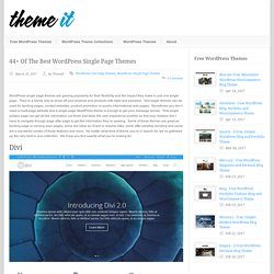 44+ Of The Best WordPress Single Page Themes