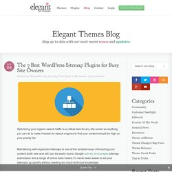 The 7 Best WordPress Sitemap Plugins for Busy Site Owners