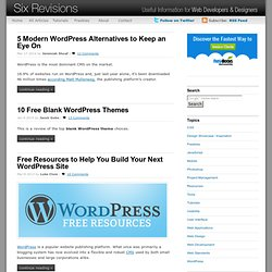 WordPress - Six Revisions