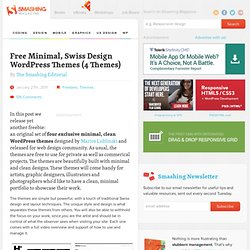 Free Minimal, Swiss Design WordPress Themes (4 Themes) - Smashing Magazine