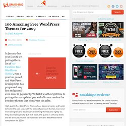 100 Amazing Free Wordpress Themes for 2009 - Smashing Magazine