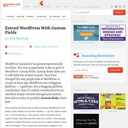 Extend WordPress With Custom Fields - Smashing Magazine