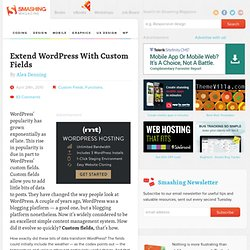 Extend WordPress With Custom Fields