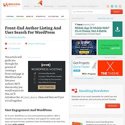 Front-End Author Listing And User Search For WordPress