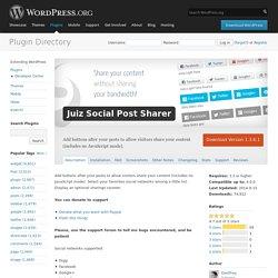 Juiz Social Post Sharer
