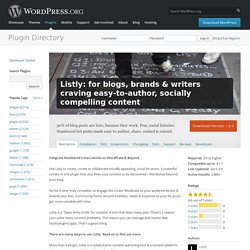 Listly: for blogs, brands & writers craving easy-to-author, socially compelling content