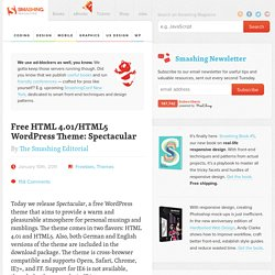 Free HTML 4.01/HTML5 WordPress Theme: Spectacular - Smashing Magazine
