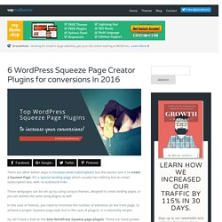 6 WordPress Squeeze Page Creator Plugins