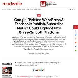 Google, Twitter, WordPress & Facebook: Publish/Subscribe Matrix