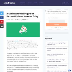 20 Great WordPress Plugins for Successful Internet Marketers Today