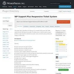 WP Support Plus Responsive Ticket System