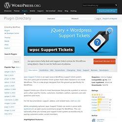 wpsc Support Tickets