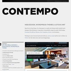 Web Design, WordPress Themes, Site Templates, Stock Art & Freebies! - Contempo