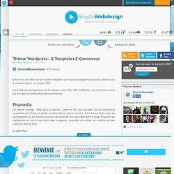 Thème Wordpress : 5 Templates E-Commerce - wordpress-ecommerce