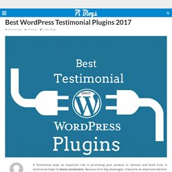 Best WordPress Testimonial Plugins 2017 – Piblog