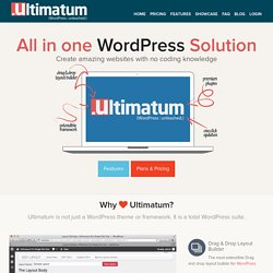 Wordpress Theme Builder | Real Drag and Drop Layout Builder | ULTIMATUM
