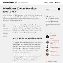 WordPress Theme Development Tools