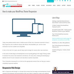 How to make your WordPress Theme Responsive
