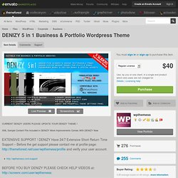 DENIZY 5 in 1 Business & Portfolio Wordpress Theme - WordPress