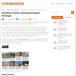 WordPress Theme: ThemeMeme Aperio Prototype | ThemeMeme