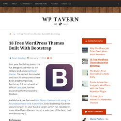 18 Free WordPress Themes Built With Bootstrap