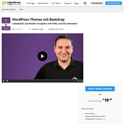 WordPress-Themes mit Bootstrap-Web