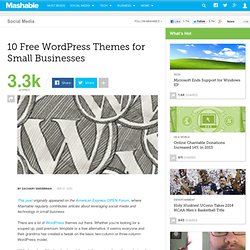 10 Free WordPress Themes for Small Businesses