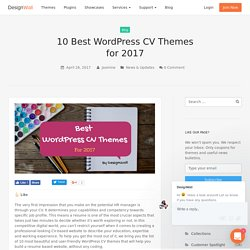 10 Best WordPress CV Themes for 2017