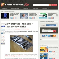 20 Wordpress Themes for Your Event Website
