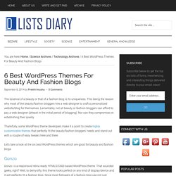 6 Best WordPress Themes For Beauty And Fashion Blogs
