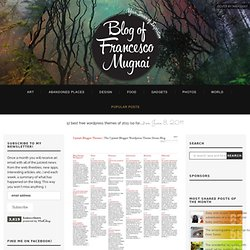 12 best free wordpress themes of 2011 (so far…) « Blog of Francesco Mugnai