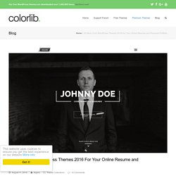 35 Best vCard WordPress Themes 2015 For Your Online Resume