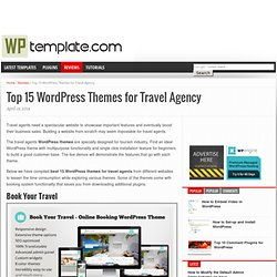 Top 15 WordPress Themes for Travel Agency