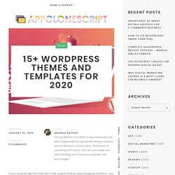 15+ WordPress Themes and Templates for 2020