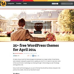25+ free WordPress themes for April 2014