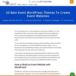 20 Best Event WordPress Themes To Create and manage event websites