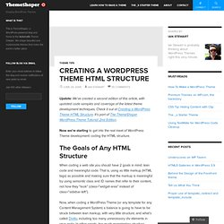 Creating a WordPress Theme HTML Structure