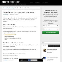 WordPress Trackback Tutorial