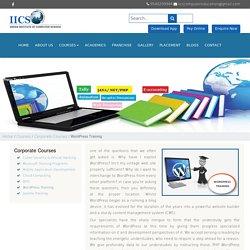 WordPress training courses in Delhi