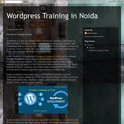 Best Wordpress training in Noida